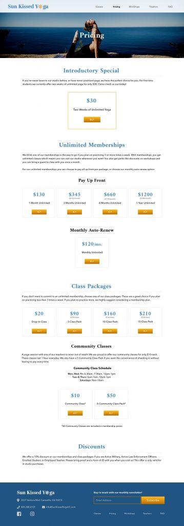 HiFi Mockup Pricing Page Desktop