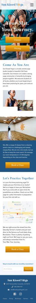 HiFi Mockup Home Page iPhone8