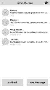 MP Message List Screen